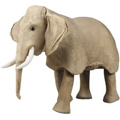 Mechanical Suede Covered Elephant | From a unique collection of antique and modern toys at http://www.1stdibs.com/furniture/more-furniture-collectibles/toys/