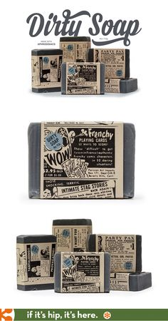 Dirty soap with great branding and packaging by Work Labs.