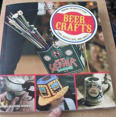 Beer Crafts Book Review- make crafts from bottles, boxes, and caps. Full review from CraftTestDummies.com
