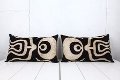 velvet ikat pillows