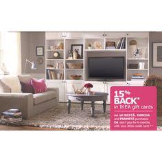 Ikea living room that I love