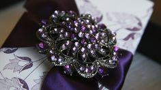 Gorgeous Violet Crystal Invitation Suite- Studio Grace