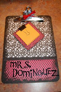 Cute clipboard and post-it note holder