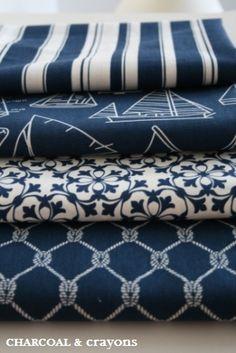 Navy bedroom fabrics