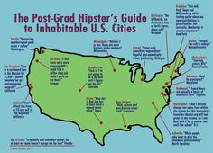 Post-Grad Hipster's Guide To Inhabitable U.S. Cities