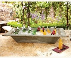Zinc Troughs - love this for parties!  Hold beverages, food, plants - so versatile!