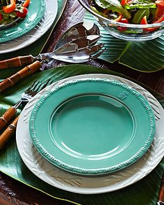 Tommy Bahama - Green Salad Plates