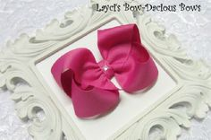 Large Raspberry Rose Boutique Hair Bow