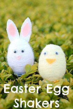 DIY Fuzzy Bunny & Chick Easter Egg Shaker Tutorial: http://kangaroomama.com/diy-fuzzy-bunny-chick-easter-egg-shaker-craft/