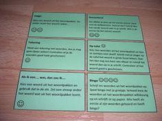 Spelletjes om het woordpakket te oefenen