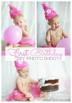 DIY 1st Birthday Photo Shoot at ucreateparties.com