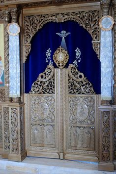 Greek Orthodox Church of St John the Baptist (Jerusalem Patriarchate) - Bethany Beyond the Jordan - The Baptism Site The Royal Doors in the Iconostasis