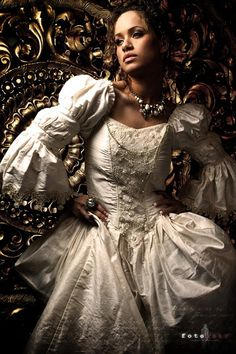Fantastical custom wedding gowns straight from a fashion fever dream, by Azrael's Accomplice Designs | Offbeat Bride