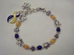 Down Syndrome - Little Inspirations / DS awareness butterfly bracelet
