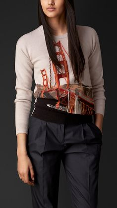 Burberry.  #sweater #sanfrancisco cashmer sweater