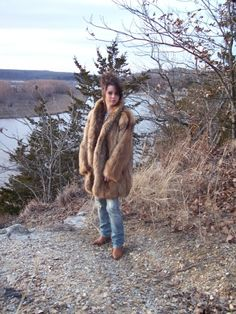 Fox Racoon Fur Jacket.