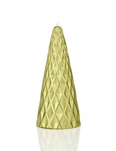 Gold Christmas Tree Shaped Candle