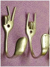 what to do with those odd silver forks- love this!