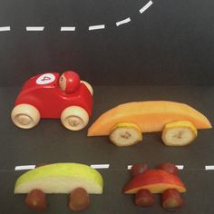 cars made of fruits.  Kids Food