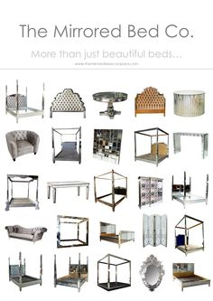 The Mirrored Bed Company - each beautiful piece is commissioned to your own specific order requirements.Contact us now at www.themirroredbedcompany.com
