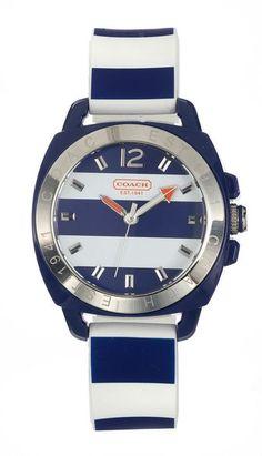 Coach nautical-striped watch