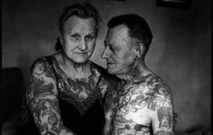 "I know everyone says ""your tattos will look ugly hen you get old"" BUT look at the beauty in this couple covered in ink. The stories behind each tattoo and the love for each other. This is beautiful <3"