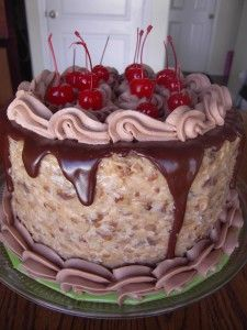 Amazing German Chocolate Cake- the cakes on this site are to die for! 2 d cakes, chocolate cake recipes, chocol cake, german chocol, amaz german, glorious german, hubby birthday, chocolate cakes, birthday cakes