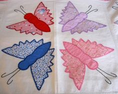 Depression Era Butterfly Quilt Top -Detail