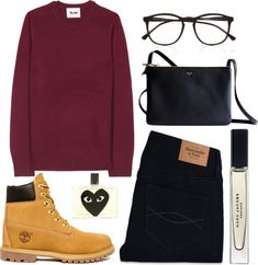 """""""*"""" by clourr ❤ liked on Polyvore Womens Timberland Boots, Timberland Boots Women Outfit, Polyvore, Timberland Outfit"""
