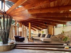 interior, houses, living rooms, architectur, frank lloyd wright, beam, ceilings, homes, design