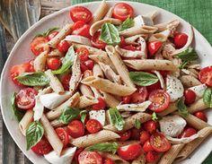 food, mozzarella pasta, yummi, pastas, tomato recip