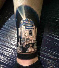 R2D2 Star Wars tattoo done by Kegan Hawkins @ Ink N Iron in Long Beach