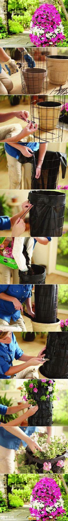 DIY Egg Shaped Flower Tower