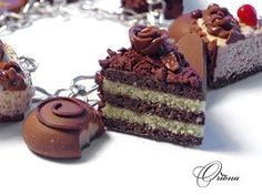 chocolate cakes and candies bracelet