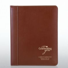 Leather Padfolio - Brown at Baudville.com