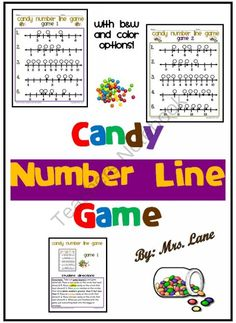 Candy Number Line Game from Mrs Lane on TeachersNotebook.com -  (15 pages)  - Do your students need to practice number lines? Make it fun with a ready-to-use hands-on game!