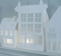 diy paper houses - Via cherry blossom world.