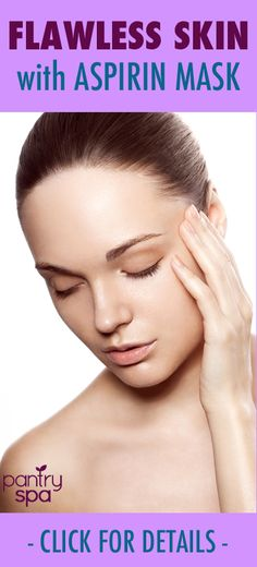 Doctor Oz said that this Flawless Skin Home Remedy is a great way to clear your complexion. The aspirin has salicylic acid which helps to remove acne and pimples since it is like a chemical peel.