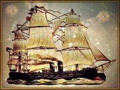 Photograph Card vintage ship masculine blank card by MYSAVIOR, $2.75