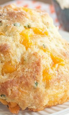 Cheddar Bacon Buttermilk Biscuits with Honey Butter