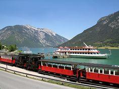 Achenseebahn since 1889 in Tirol Austria. #austria #tirol #achensee #train #visitaustria