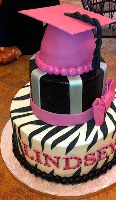 PINK GRADUATION CAKE! cestsibonbakery.com