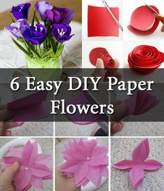 Some Simple technique of making paper flowers step by step.