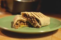skinny grilled cheeseburger wrap