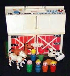 farm, the doors, memori, barn doors, little people, vintage fisher price, 1960s 70s, vintage toys, kid