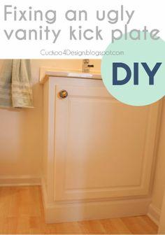 Fixing an ugly builder-standard vanity kick plate