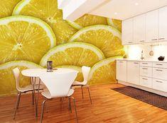 wall art, interior, decorate rooms, wall murals, wall prints, kitchen, accent walls, lemon, photo art