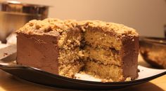 #vegan butterfinger cake! I think it's the yummiest cake I've ever had!