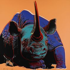 Warhol - Endangered Species, Black rhinoceros