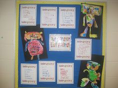 "Monster Fun!  Leonardo the Terrible Monster was our favorite so we read it twice!  This poem is so much fun because it is easy to act out and acted scared for the first two lines and then we pretended to ""sneak"" around the room and yelled,  ""Boo!""  Included are instruction for playing out and art activity. They turned out to so cute!  Here are some pictures of some of the monsters and list poems."